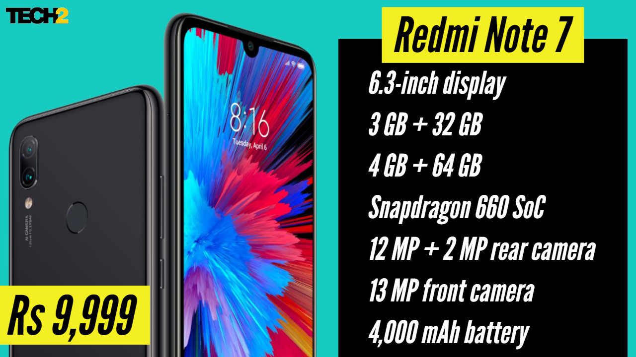 Redmi Note 7 specifications. Image: Tech2