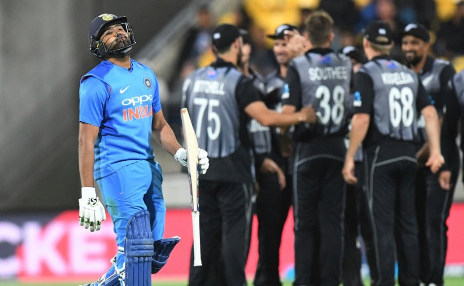 Skipper Rohit Sharma got out for 1 which led to a batting collapse reducing India to 77/6 before they were eventually bowled out for 139. AP