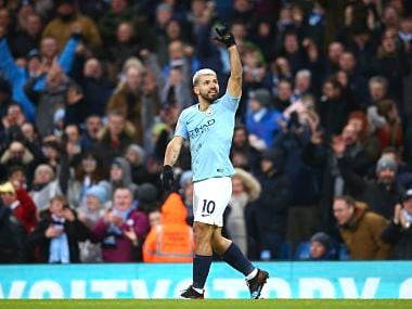 Premier League: Sergio Aguero bags hat-trick against Arsenal to help Manchester City stay at Liverpools heels