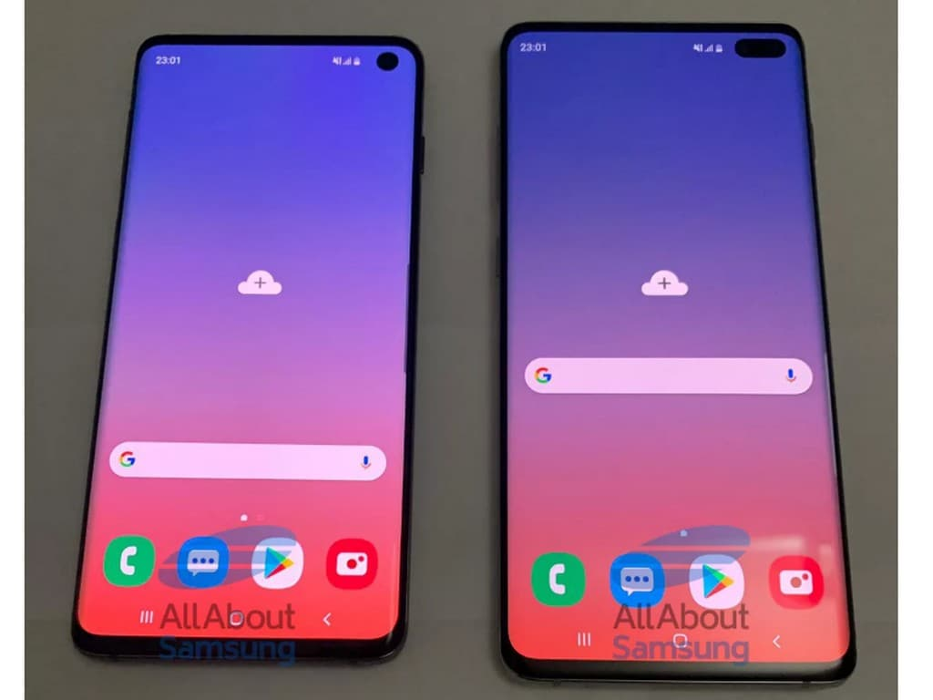 Leaked live images of Galaxy S10 and S10 Plus shows off 3.5mm audio jack. Image: AllAboutSamsung