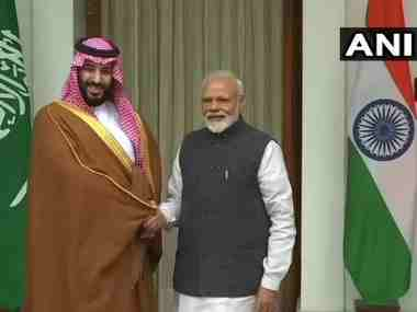 Congress lashes out at Narendra Modi for breaking protocol to welcome Saudi crown prince Mohammed bin Salman