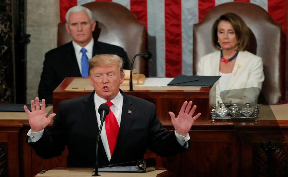 US president Donald Trump on Wednesday delivered his second State of the Union address. His initial appearance on 28 February, 2017, was weeks after his inauguration on 20 January and not considered a formal State of the Union. Reuters