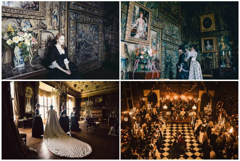 Various stills from The Favourite. Fox Searchlight