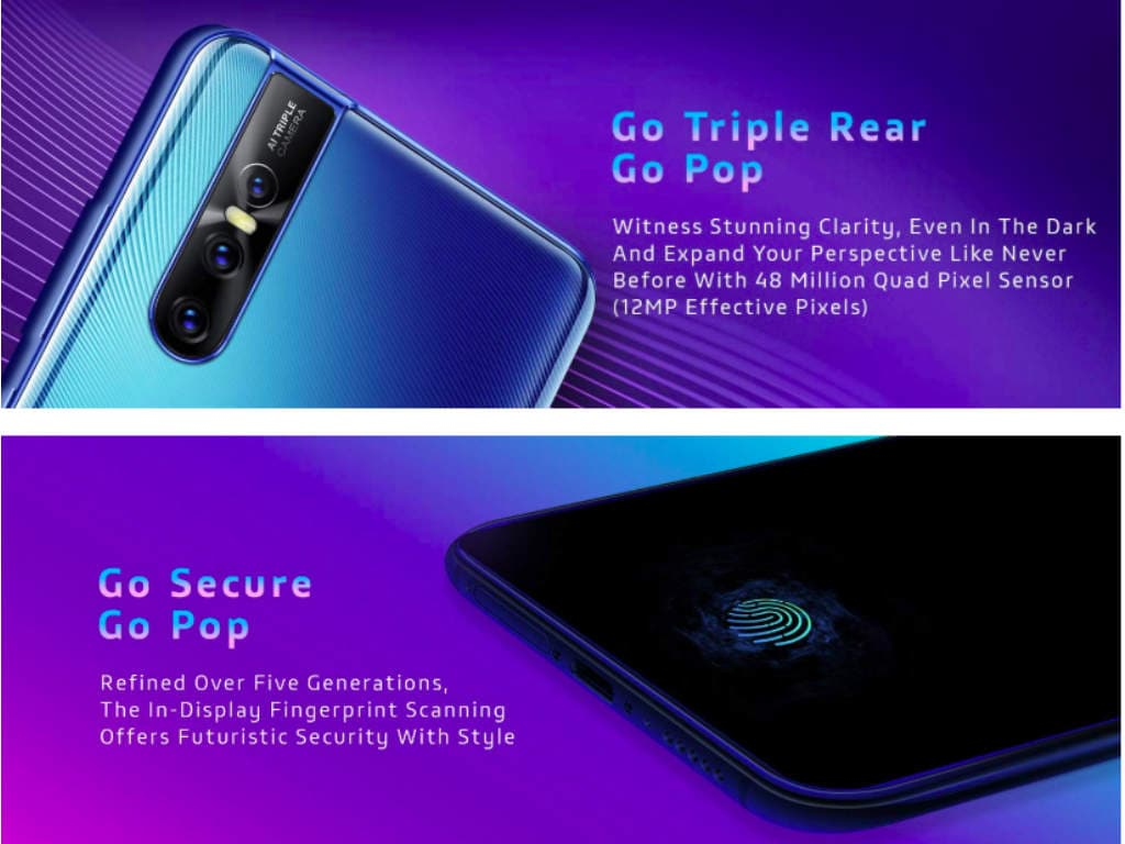 Specifications of Vivo V15 Pro. Image: Amazon