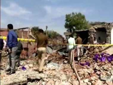 Ten killed in explosion at carpet shop in UPs Bhadohi city; store suspected to be a front for fireworks factory