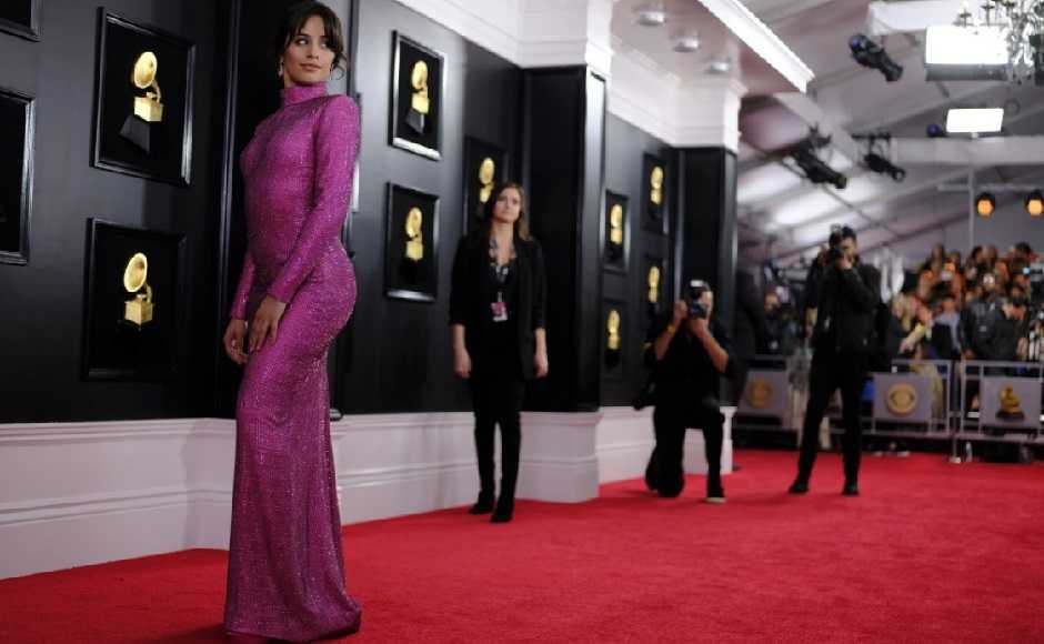 Camila Cabello in Armani Prive. Image from Twitter @headlineplanet
