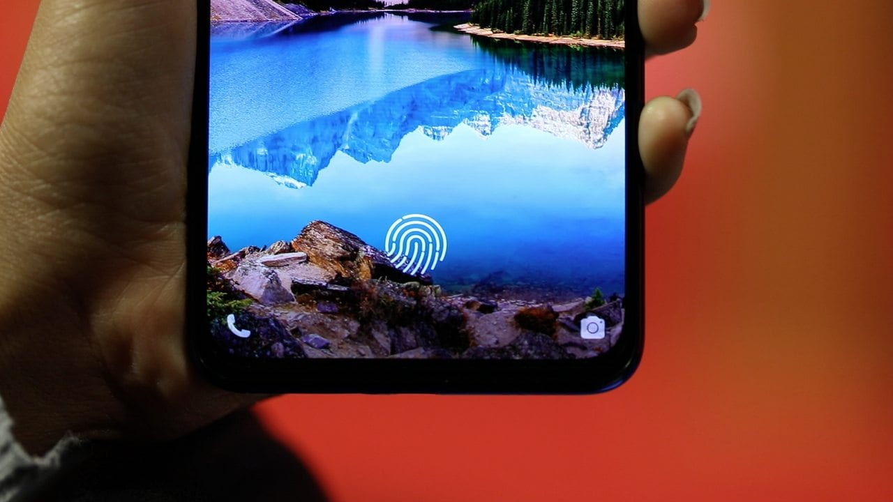 Vivo V15 Pro's in-display fingerprint sensor. Image: tech2/Nandini Yadav