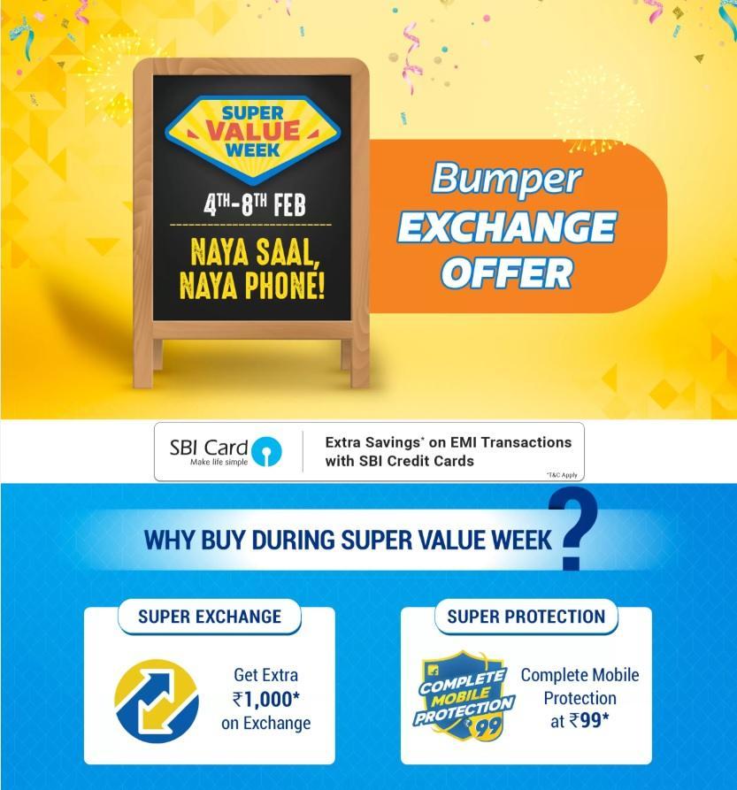 Flipkart Super Value Week sale brings good deals and exchange offers on some of the popular mid-range phones. Image: Flipkart