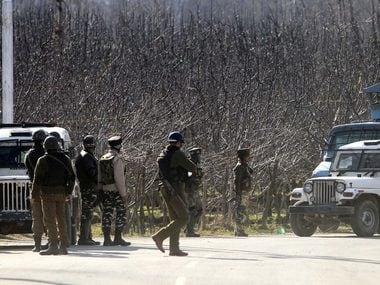 Security forces during the encounter in Kulgam. Image: Hilal Shah