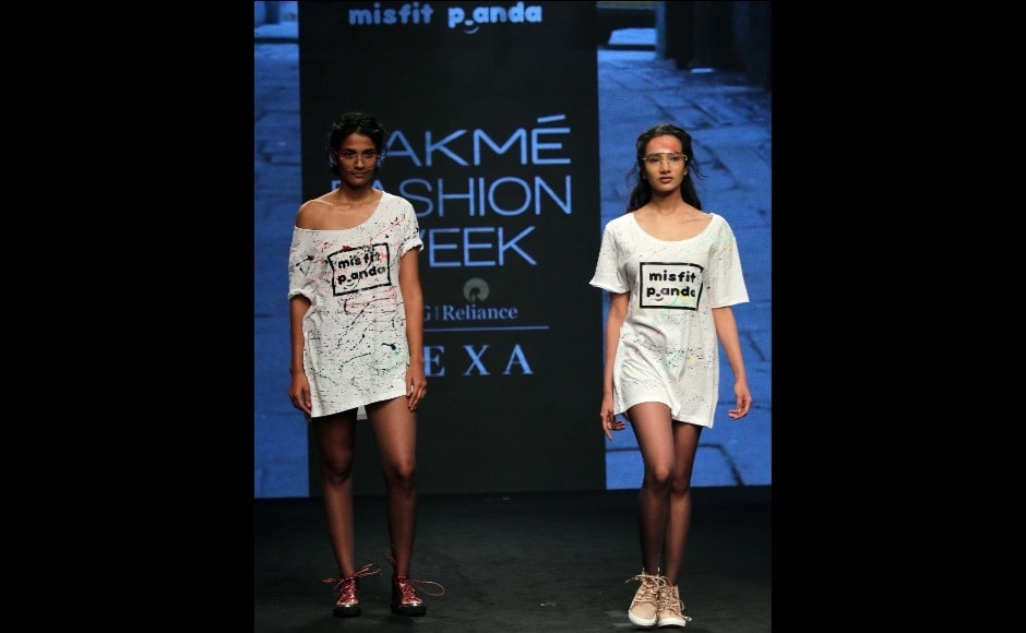 Models display designs from the Misfit Panda line by Juveca Panda. Photo: Sachin Gokhale/Firstpost