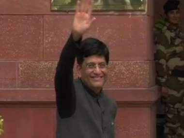 Budget 2019: Piyush Goyal arrives at Ministry of Finance ahead of 11 am speech, expected to address media at 3.30 pm