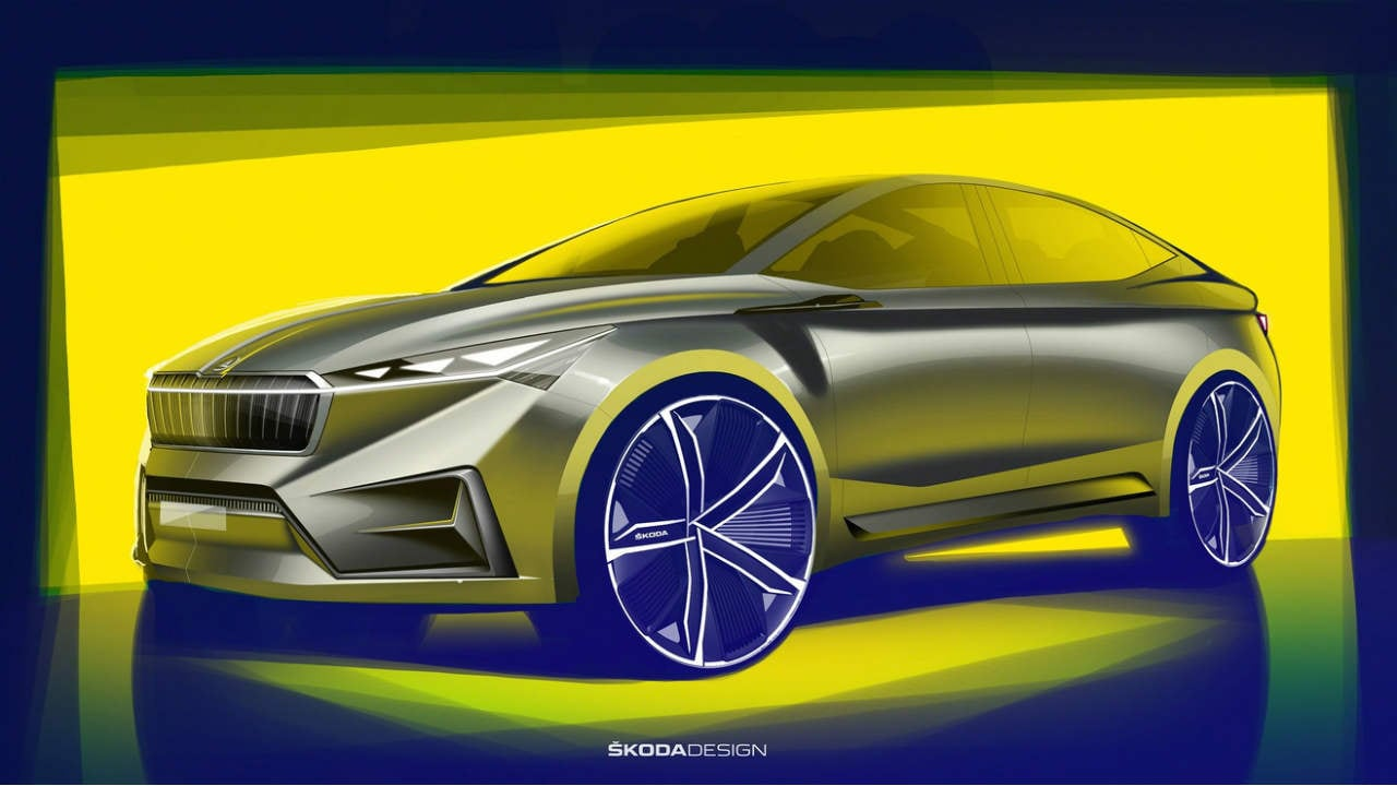 Skoda teases the upcoming electric Vision iV via concept renders ahead of launch
