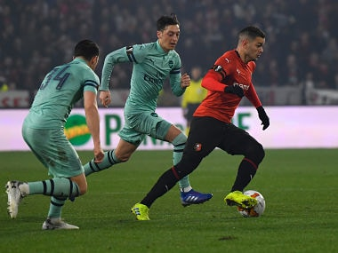 Europa League: Rennes stun 10-man Arsenal as Chelsea, Napoli secure comfortable victories in Round of 16