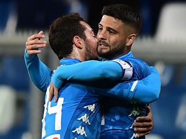 Serie A: Napolis Lorenzo Insigne nets late equaliser to salvage a point against Sassuolo; Inter Milan beat SPAL