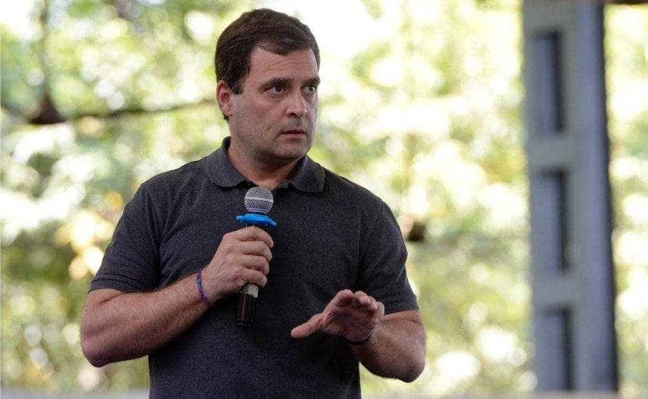 Addressing students at Stella Maris College for Women in Chennai, Rahul announced that if his party comes to power, it will reserve 33 percent of all government jobs at the national level for women. Twitter/@INCIndia