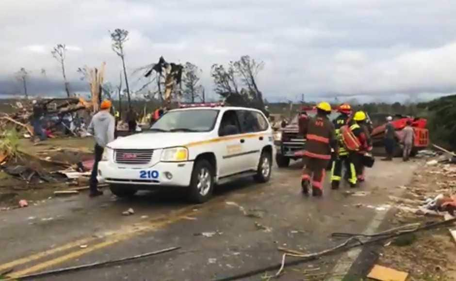 Several people were taken to the hospital with serious injuries and two are said to be under intensive care. The National Weather Service confirmed that the Alabama tornado on Sunday was of an F3 rating, which means the wind speeds were ranging between 254-331 kilometres per hour. AP