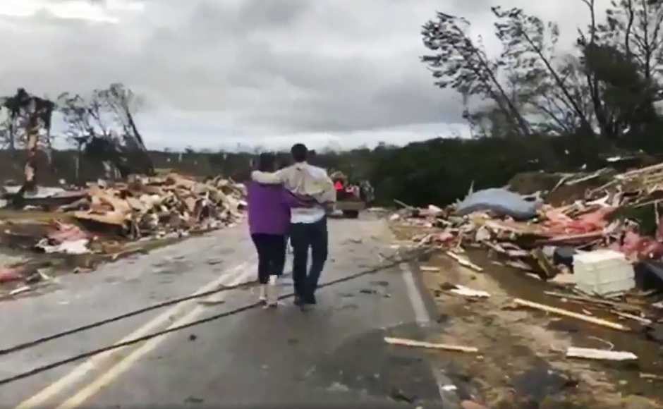 Over 150 emergency responders rushed to Alabama's Lee County to join rescue efforts. The storm also affected parts of Georgia, South Carolina and Florida. By nightfall on Sunday, the rains ceased and pieces of destroyed property were seen littered all over the area. AP
