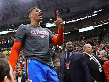 NBA: Oklahoma City Thunders Russell Westbrook threatens Utah Jazz spectators, alleges fans racially taunted him