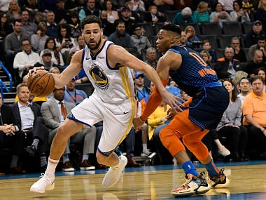NBA: Stephen Curry scores 33 points as Warriors rout Thunder; Kyrie Irving helps Celtics beat Hawks