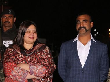 Indian Air Force (IAF) pilot Wing Commander Abhinandan Varthaman as he is released by Pakistan authorities. PTI