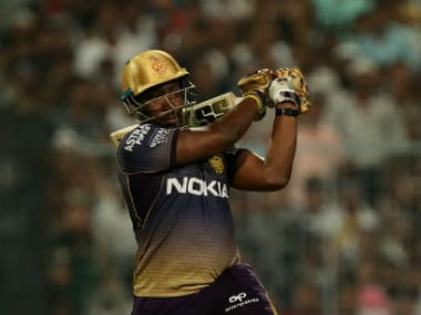 Andre Russell's unbeaten 48 of 17 balls helped KKR finish on a winning total of 218. Sportzpics