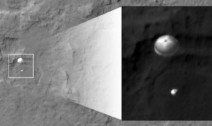 Images of NASA's Curiosity Rover landing on the surface of Mars. Facebook/ De Anita Sengupta