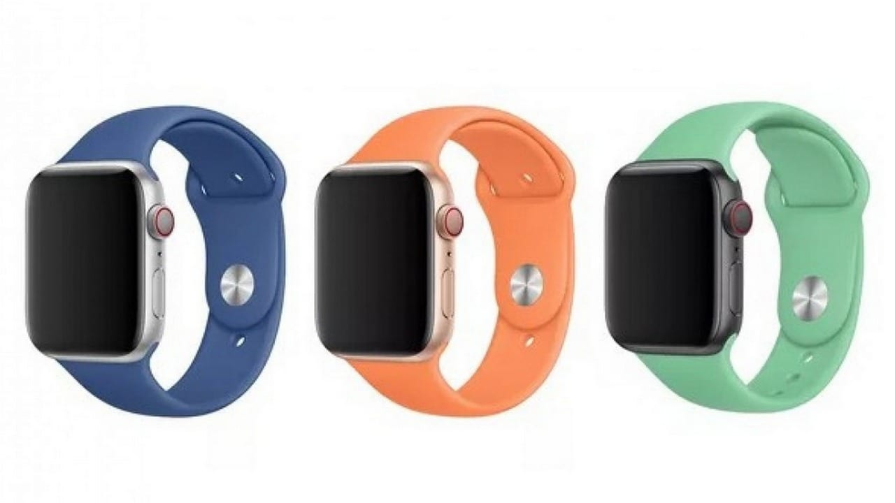 The new Apple Watch silicone bands. Image: Apple