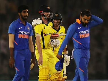 India vs Australia: Flat deck and dew take the fizz out of hosts' bowlers in Mohali and leave them with early warning signal