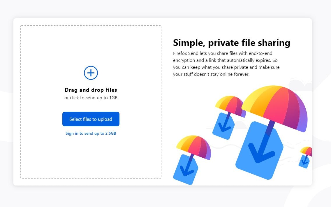 Mozillas self-deleting online link sharing service Firefox Send is now live