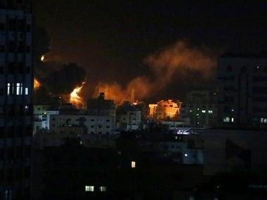Israel strikes Gaza after rare Palestinian rocket attack near Tel Aviv; Hamas interior security office hit in bombing