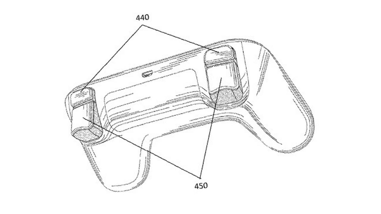 Controller design revealed in the patent filed by Google. Image: Google