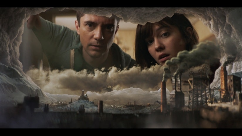 Topher Grace and Mary Elizabeth Winstead in Ice Age. Netflix