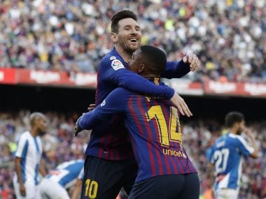 LaLiga: Lionel Messis sublime second-half brace maintains Barcelonas lead at the top; Atletico Madrid thrash Alaves