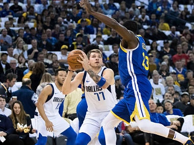 00a0d1c79 NBA  Luka Doncic stars as Mavericks rout Warriors 126-91  Hornets stay in  playoffs contention with victory over Celtics