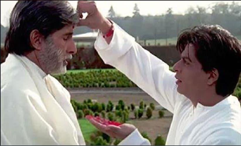 Amitabh Bachchan and Shahrukh Khan in Mohabbatein. Source: Twitter
