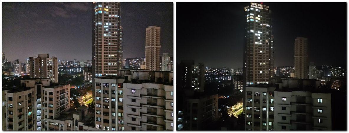 Oppo F11 Pro Nightscape (L) vs Nokia 8.1 (R)
