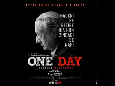 Anupam Kher shares poster of his upcoming film One Day; thriller to release in summer 2019