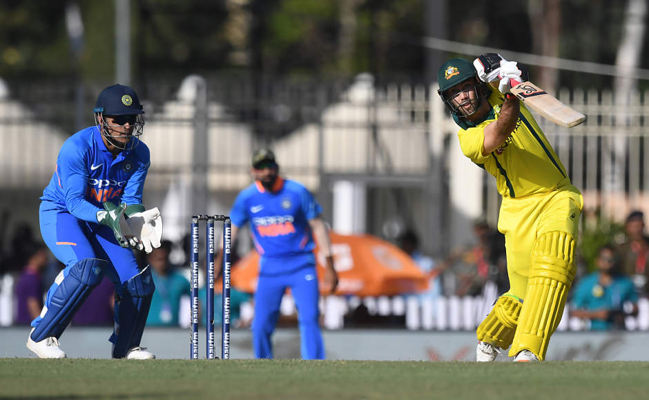 Glenn Maxwell played another handy innings for Australia, scoring a quick 31-ball 47, including three sixes and three fours. Australia posted 313 on the board. AFP