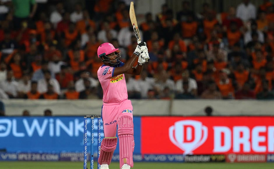 Sanju Samson slammed second IPL ton, scoring 102 off just 55 balls. His knock included some splendid strokes. He hit 10 fours and 4 sixes but despite this massive effort,Rajasthan Royals ended up on the losing side. Sportzpics