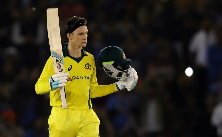 Coming to the crease at 12 for 2, Peter Handscomb, stitched a pivotal 192-run stand with opener Usman Khawaja before he brought up his maiden ODI hundred. AP
