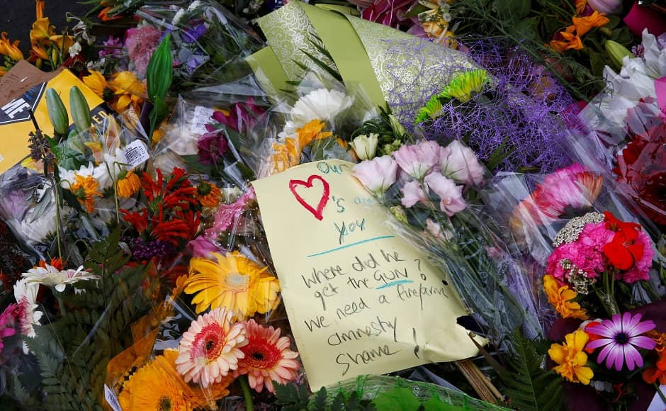 Some messages questioned the gun control policies in New Zealand. Prime Minister Jacinda Ardern vowed on Tuesday that gunman Brenton Tarrant would face the