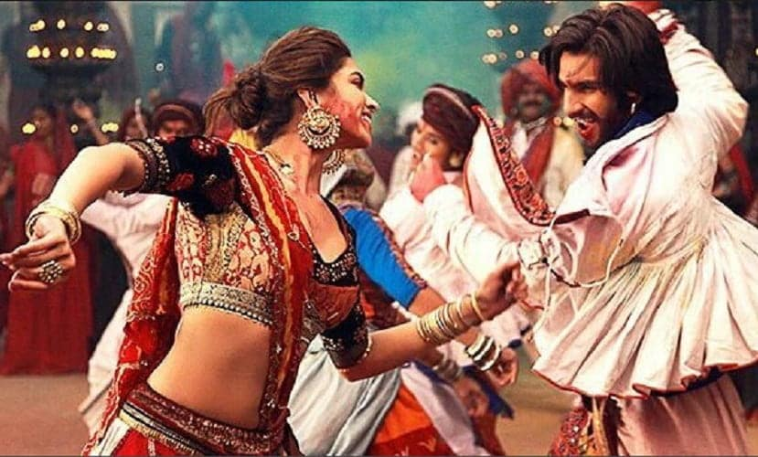 Ranveer Singh and Deepika Padukone in a still from the song. Source: Twitter