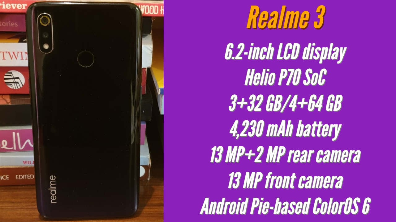 Realme 3 specifications.