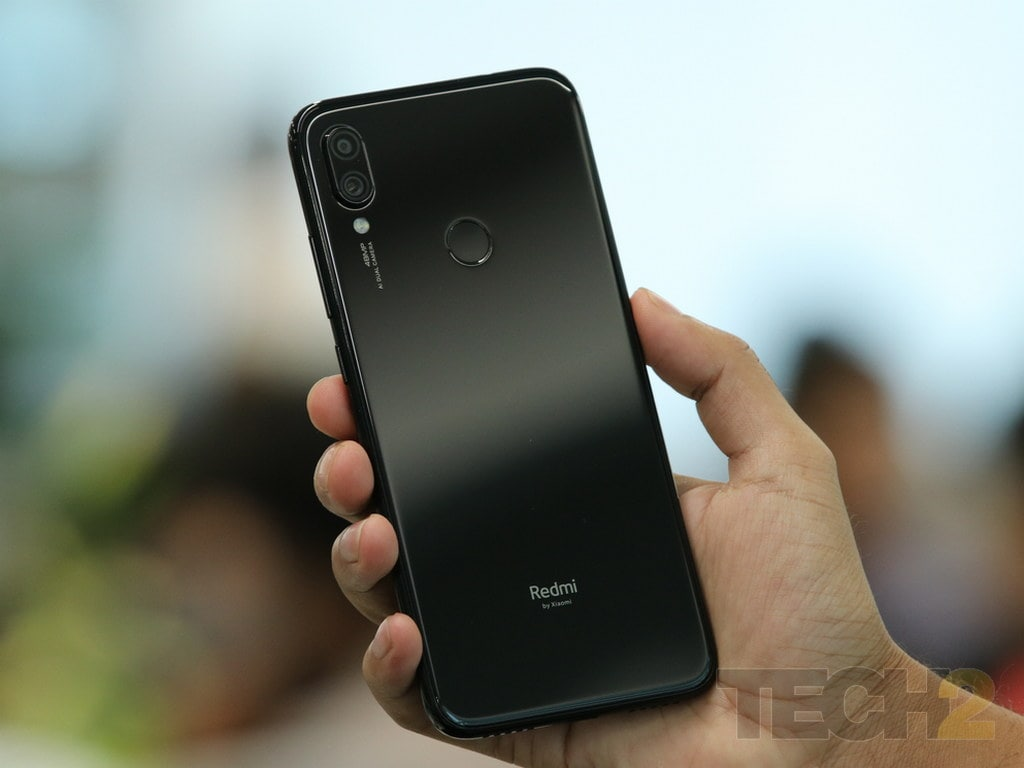 The rear-camera setup on the Redmi Note 7 Pro. Image: tech2/ Omkar Godambe