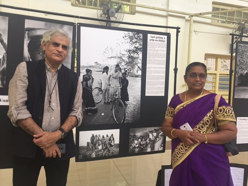 P Sainath with Kannammal at the Chennai Photo Biennale. Image courtesy the writer