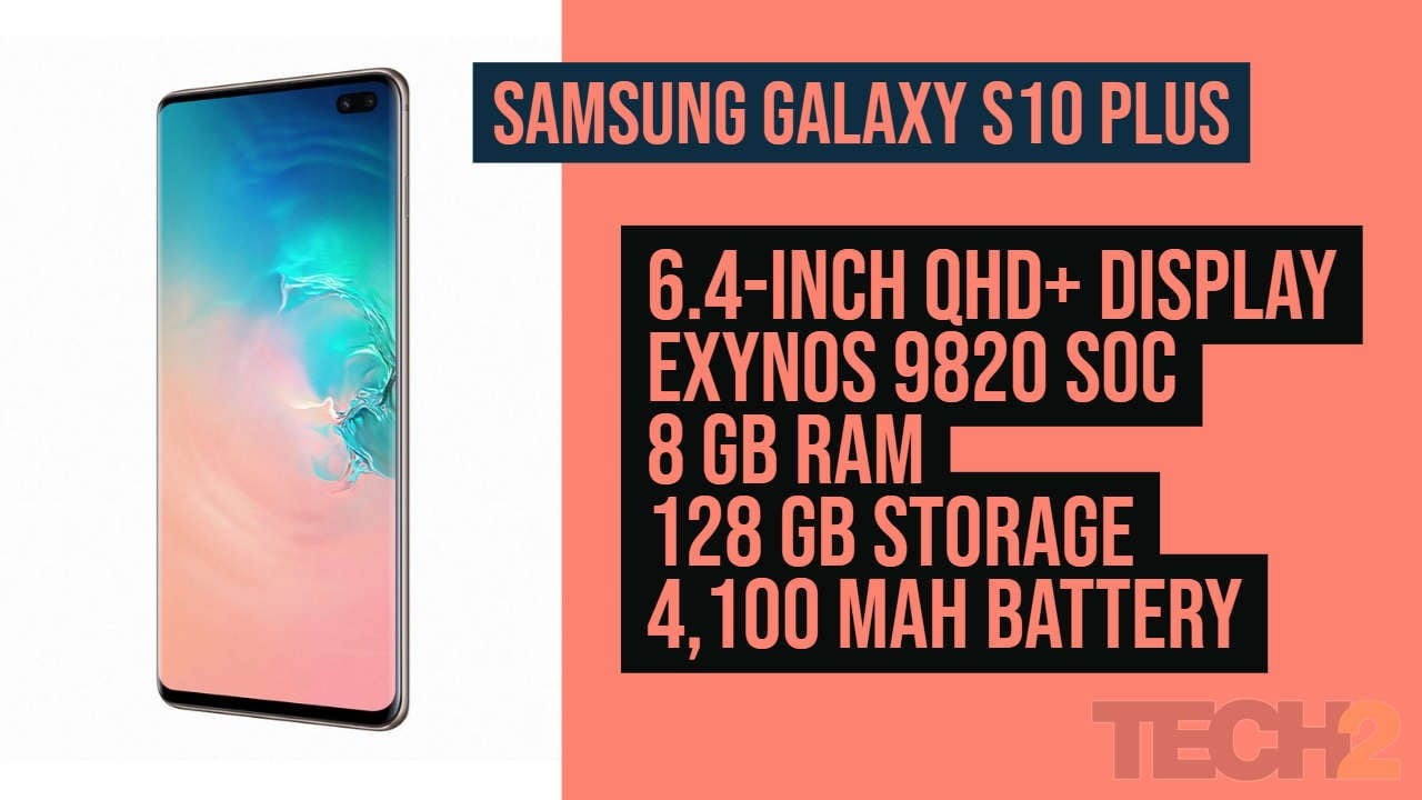 Check out the specifications of the Samsung Galaxy S10 Plus. Image: Tech2