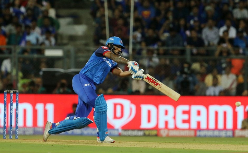 Shikhar Dhawan scored 43 off 36 on his return for Delhi as the national capital franchise made a good start against Mumbai Indians despite DC losing two wickets early on. Sportzpics