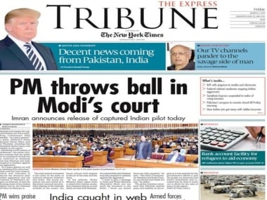 Friday's edition of The Express Tribune.