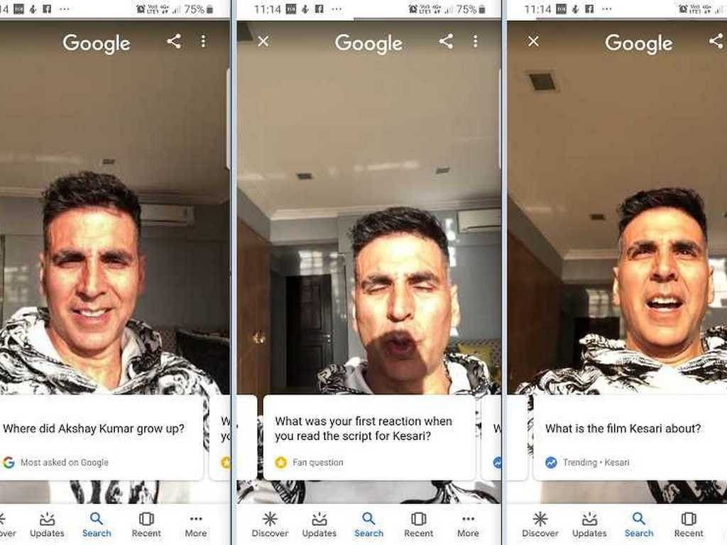 Akshay Kumar answers question about himself, upcoming film Kesari on Google Search