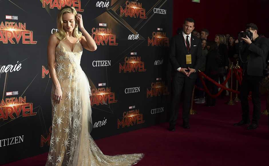 Brie Larson at the Captain Marvel premiere in LA. Photo by Jordan Strauss/Invision/AP